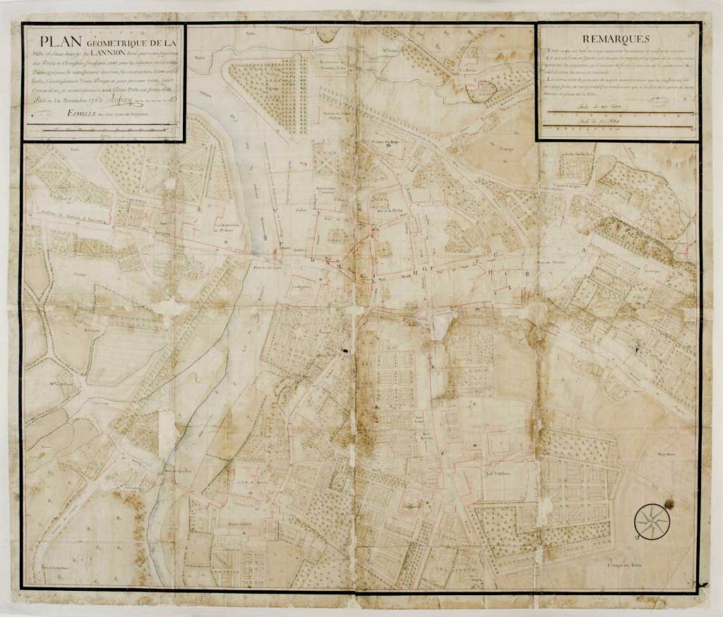 Plan Anfray 1763 AD Cote C13